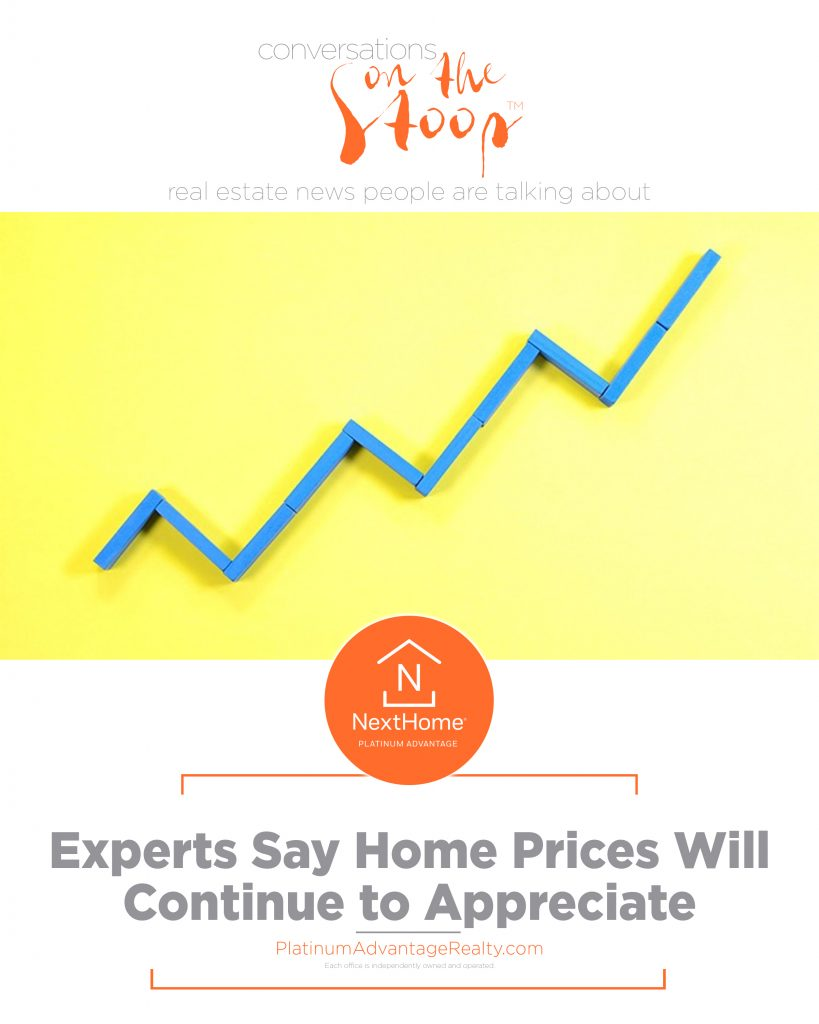Experts Say Home Prices Will Continue to Appreciate